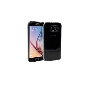 Samsung Galaxy S6 Siliconen Gel Hoesje Zwart Mat Transparant