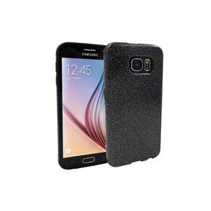 Samsung Galaxy S6 Siliconen Gel Hoesje Zilver Zwart