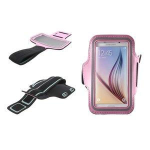 Samsung Galaxy S6 / S6 Edge Sport Armband Roze