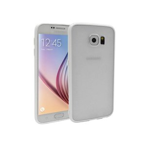 Samsung Galaxy S6 Backcover Mat Transparant Wit