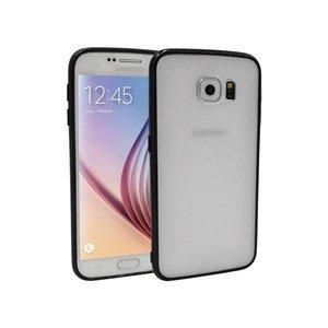 Samsung Galaxy S6 Backcover Mat Transparant Zwart