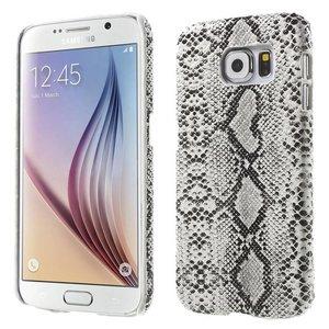Samsung Galaxy S6 Backcover Slangen Print Wit