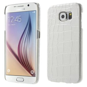 Samsung Galaxy S6 Backcover Krokodillen Print Wit