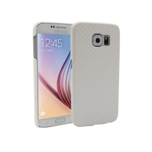 Samsung Galaxy S6 Backcover Hoesje Carbon Wit