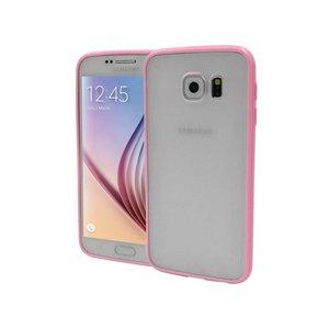 Samsung Galaxy S6 Backcover Mat Transparant Roze