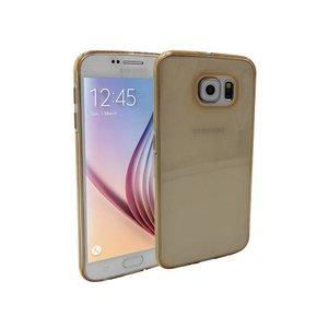 Samsung Galaxy S6 Siliconen Hoesje Goud Transparant