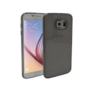 Samsung Galaxy S6 Siliconen Hoesje Zwart Transparant