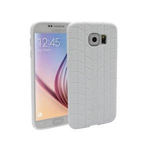 Samsung Galaxy S6 Siliconen Gel Hoesje Bandenspoor Wit