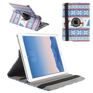 iPad Air 2 Hoes 360 Graden Leder Foute Kerst Rood
