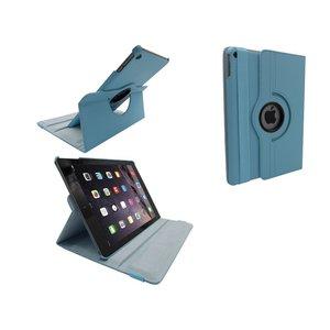 iPad Air 2 Leder Hoes Draaibaar 360 Graden Licht Blauw