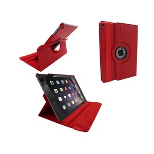 iPad Air 2 Leder Hoes Draaibaar 360 Graden Rood