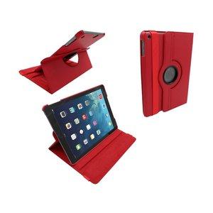 iPad Air Leder Hoes Draaibaar 360 Graden Rood