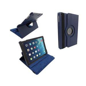 iPad Air Leder Hoes Draaibaar 360 Graden Donker Blauw