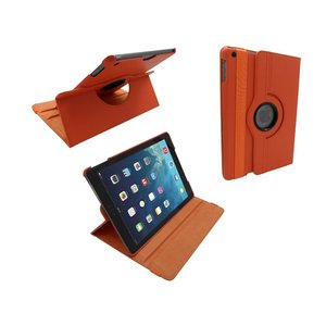 iPad Air Leder Hoes Draaibaar 360 Graden Oranje