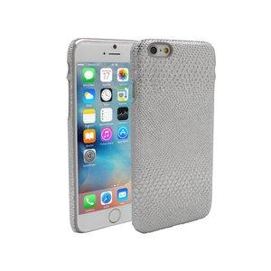 iPhone 6 en 6S Hoesje Hardcover Slangen Print Zilver
