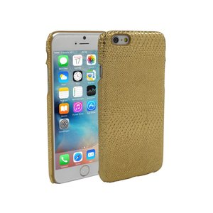 iPhone 6 en 6S Hoesje Hardcover Slangenprint Goud