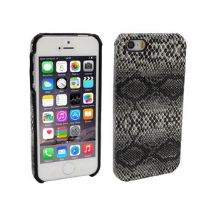 iPhone 5 en 5S Hoesje Hardcover Slangenprint Zwart