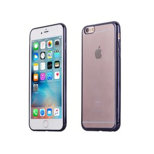 iPhone 6 6S Bumper Case Siliconen Ultradun Zwart