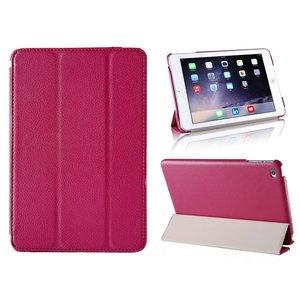 iPad Mini 4 Smart Case Hoes Leder Diep Roze