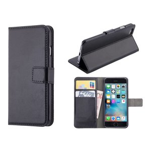 iPhone 6 en 6S Bookcase Hoesje Zwart