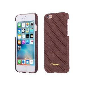 iPhone 6 en 6S Hardcase Hoesje Suede Look Design Bruin