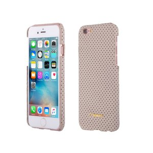 iPhone 6 en 6S Hardcase Hoesje Suede Look Design Beige