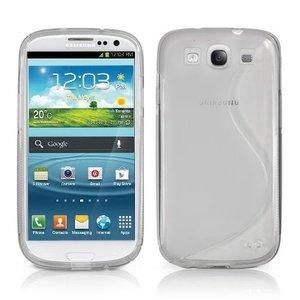 Samsung Galaxy S3 Siliconen Hoesje S Design Transparant