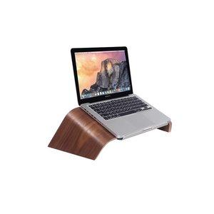 MacBook Standaard Bridge Donker Hout