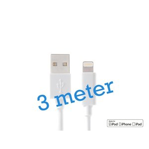iPhone 5/5S/6/6S/iPad Lightning Kabel MFI 3M - OPSO