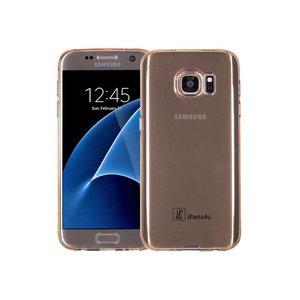 Samsung Galaxy S7 Hoesje Siliconen Goud Transp.