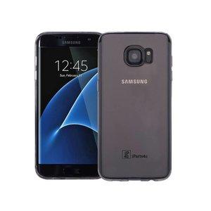 Samsung Galaxy S7 Edge Hoesje Siliconen Zwart Tra.
