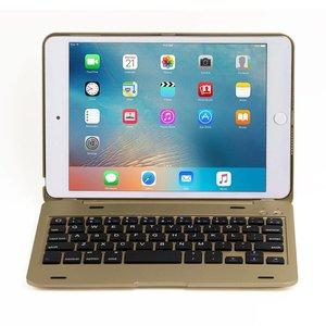 iPad Mini 4 Toetsenbord Case Full Protection Goud