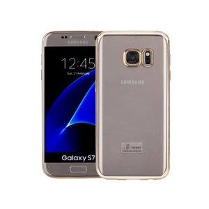 Samsung Galaxy S7 Hoesje Clear Goud TPU