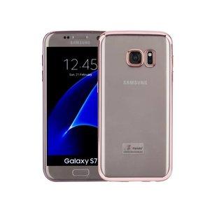 Samsung Galaxy S7 Hoesje Clear Rose Goud TPU