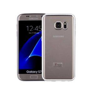 Samsung Galaxy S7 Hoesje Clear Zilver TPU