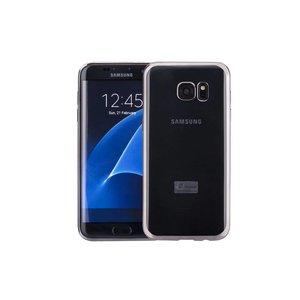 Samsung Galaxy S7 Edge Hoesje Clear Metallic TPU