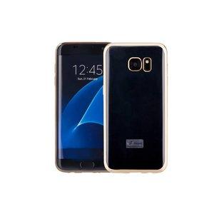 Samsung Galaxy S7 Edge Hoesje Clear Goud TPU