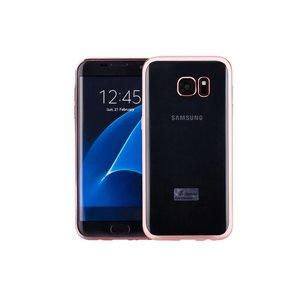Samsung Galaxy S7 Edge Hoesje Clear Rose Goud TPU