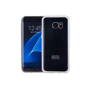 Samsung Galaxy S7 Edge Hoesje Clear Zilver TPU