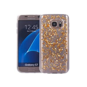Samsung Galaxy S7 Glitter Hoesje Snippers Goud