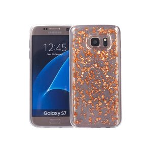 Samsung Galaxy S7 Glitter Hoesje Snippers Rose Goud