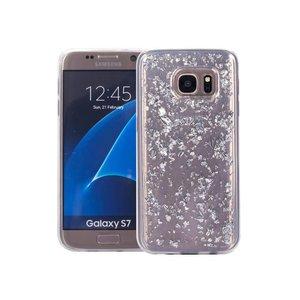 Samsung Galaxy S7 Glitter Hoesje Snippers Zilver