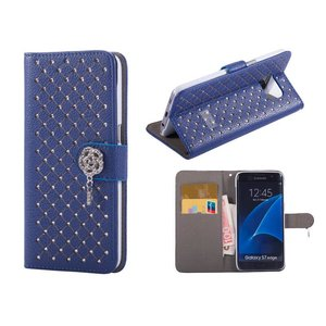 Samsung Galaxy S7 Edge Bookcase Diamant Blauw
