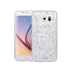Samsung Galaxy S6 Glitter Hoesje Snippers Zilver