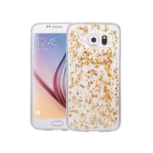 Samsung Galaxy S6 Glitter Hoesje Snippers Goud