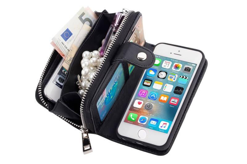 Portemonnee hoesje iphone 5
