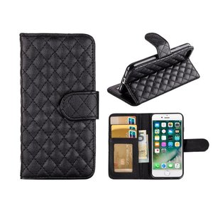 iPhone 8/7 Bookcase Hoesje Wallet Ruitjes Zwart
