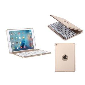 Toetsenbord iPad Air 2 / iPad Pro Hoes Note Kee Ultradun Goud