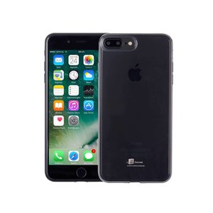 Ultradun iPhone 8/7 Plus Hoesje Siliconen Zwart Trsp