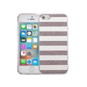 iPhone SE/5S/5 Hardcase Glitter Strepen Multicolor